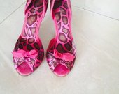Rožiniai tigriniai bateliai Lorenzo