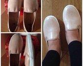 Slip on shoes kreminiai