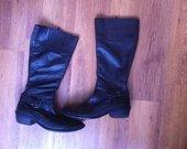 Tamaris odiniai juodi batai