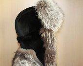 Ausinė Kepurė  Juodsidabrės Lapės