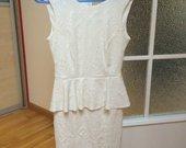 Peplum balta suknele
