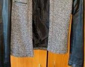 Reserved švarkelis odinėmis rankovėmis