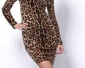 nauja bodycon suknelė leopardas