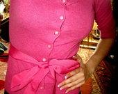 Rožinis plonas megztukas