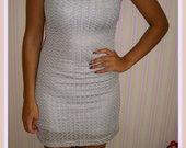 Sidabro spalvos proginė suknelė