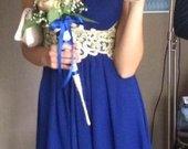 Tobula mėlyna indigo suknelė
