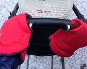 Šiltos pirštinės vežimėliui
