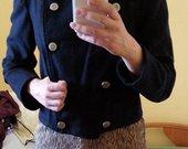 Zara tamsiai mėlynas paltas
