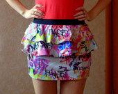 Spalvotas sijonas