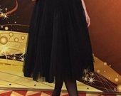 Pustas tiulio sijonas