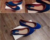Mėlyni pavasariniai bataeliai (balerinos)