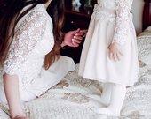 Sukneles krikstynoms mamai ir dukrytei