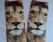 Trumpos kojinės su liūtais