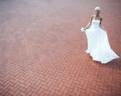 Šampaninės spalvos vestuvinė suknelė