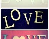 Veidrodinės raidės,vestuvių aksesuaras