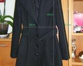 AMISU rudeninis juodas paltukas