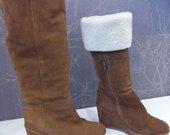zieminiai odiniai batai su kailiu
