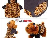 Leopardinis šiltas džemperis su goptuvu