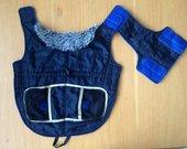 Tamsiai mėlyna striukė