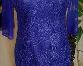 Tamsiai melyna progine suknele