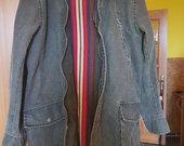 Džinsinis vyriškas paltas
