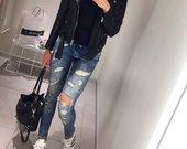 Stilingi paplešyti džinsai
