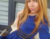 Žavi mėlyna suknytė
