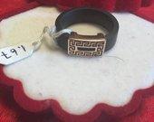 Kaučiukinis/auksinis Versaci žiedas