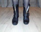 Žieminiai odiniai ilgaauliai batai