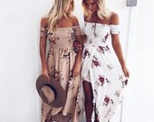Boho stiliaus ilga suknelė