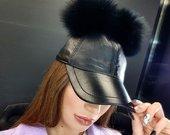 Natūralios odos kepure