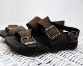 Pilnai odiniai sandalai