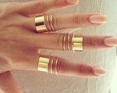 9 ziedu rinkinys knuckle rings