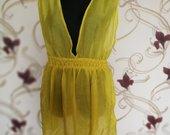 vasarinė geltona suknelė