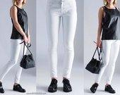 "Odos imitacijos kelnės ""White Leather"""