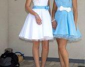 Žydra proginė suknelė išleistuvėms, krikštynoms