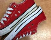 Raudoni converse canvasai sportbačiai