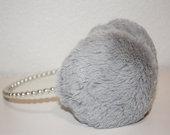 PENTI šiltos ausinės su dirbtiniais perlais