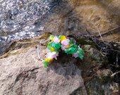 Įvairių gėlių žiedlapių asorti lankelis