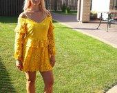 nauja geltona suknelė