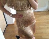 Khaki isskirtinė suknelė
