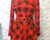 Raudonos/Juodos rudeninės suknelės