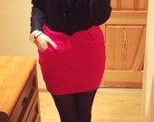 Raudonas šiltesnis sijonas!