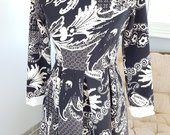 Elegantiška juodai balta suknelė