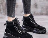 Nauji juodi platfominiai batai