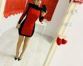 Raudona Balmain&hm suknele