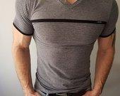 L dydis pilki vyriški marškinėliai