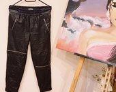Zara odinės kelnės