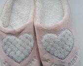 Rožinės šlepetės su širdele 38-39 dydis