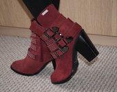 Raudoni zomšiniai Pepe Jeans aulinukai 39 dydis